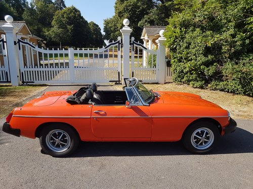 1978 MG MGB Roadster - very low mileage SOLD (picture 1 of 6)