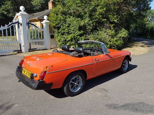 1978 MG MGB Roadster - very low mileage SOLD (picture 2 of 6)