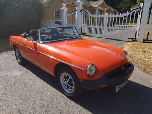 1978 MG MGB Roadster - very low mileage SOLD (picture 5 of 6)
