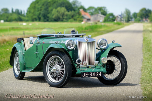 1948 MG TC Midget Almond green Top condition For Sale (picture 1 of 6)