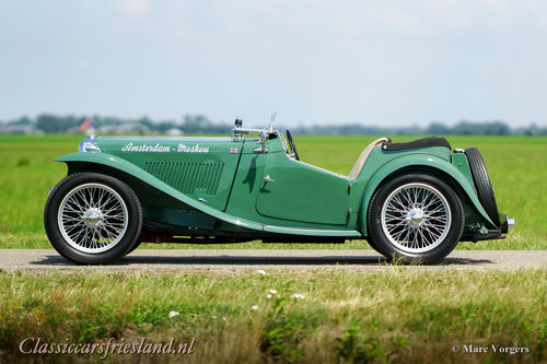1948 MG TC Midget Almond green Top condition For Sale (picture 2 of 6)