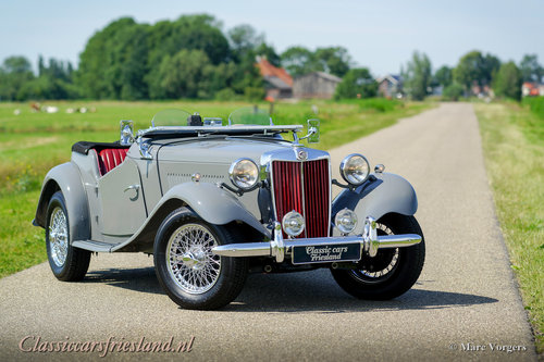1954 MG TD MIDGET DOVE GREY  EXELLENT CONDITION For Sale (picture 1 of 6)