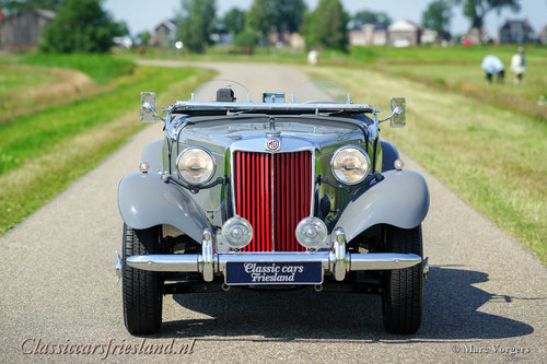 1954 MG TD MIDGET DOVE GREY  EXELLENT CONDITION For Sale (picture 4 of 6)