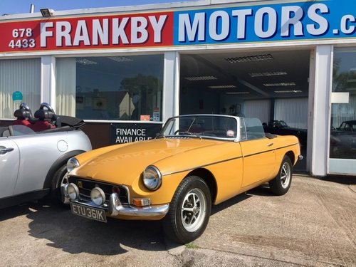 K reg 1972 MGB Roadster 1.8 Convertible  For Sale (picture 1 of 6)