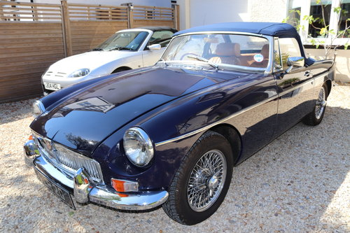 1968 MGB Roadster, mk2, Midnight blue, VLR 2G SOLD (picture 1 of 6)