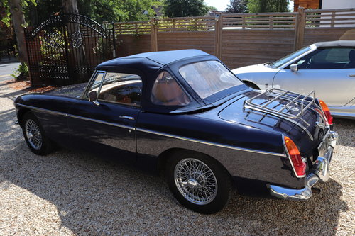 1968 MGB Roadster, mk2, Midnight blue, VLR 2G SOLD (picture 5 of 6)
