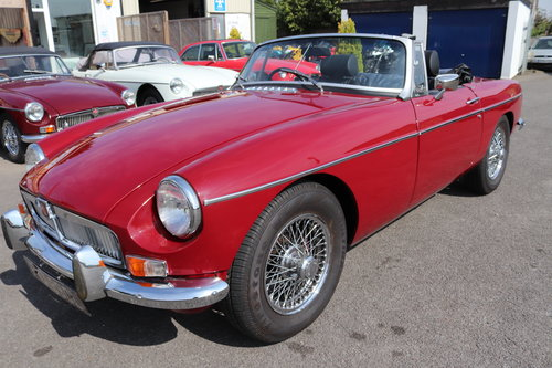 1972 MGB Roadster, bare shell rebuild in 2015 SOLD (picture 1 of 6)