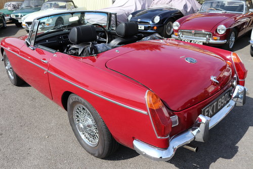 1972 MGB Roadster, bare shell rebuild in 2015 SOLD (picture 2 of 6)