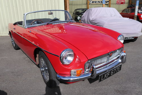 1967 MGB HERITAGE SHELL, Tartan red SOLD (picture 1 of 6)