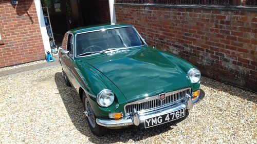 1969 MGBGT. B R Green, Wire Wheels, Overdrive. SOLD (picture 1 of 6)