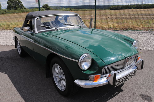 1971 MGB Roadster Heritage shell, BRG SOLD (picture 1 of 6)