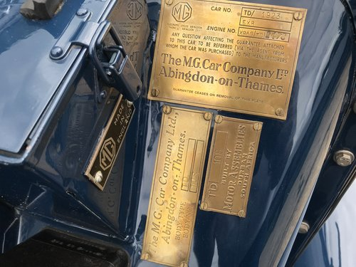 1950 MG TD - Original RHD - Now Sold! SOLD (picture 6 of 6)