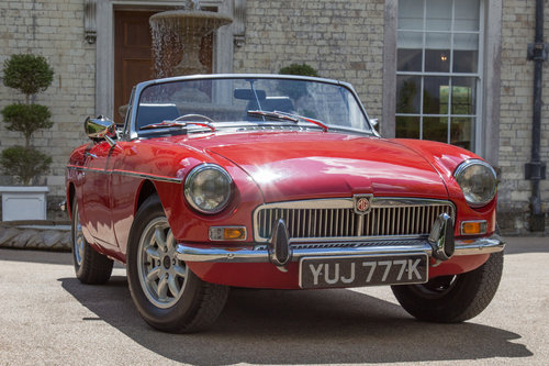 1972 MG B Roadster | Flame Red, Overdrive  SOLD (picture 1 of 6)