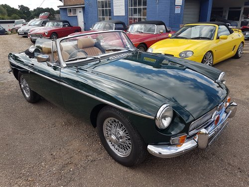 1969 MGB Roadster British Racing Green. Previously Restored  SOLD (picture 1 of 6)