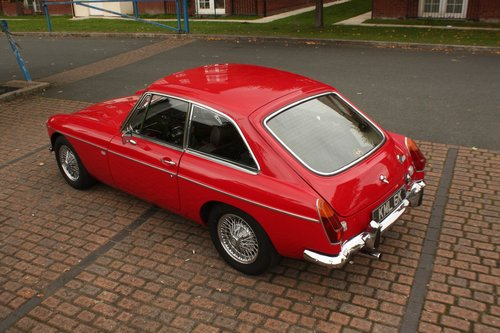 1972 MGB GT - Red, Chrome Wires - older professional resto SOLD (picture 3 of 6)