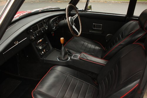 1972 MGB GT - Red, Chrome Wires - older professional resto SOLD (picture 4 of 6)