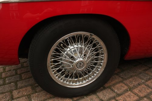 1972 MGB GT - Red, Chrome Wires - older professional resto SOLD (picture 6 of 6)