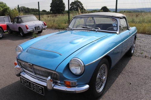 1968 MGC Roadster in Riviera metallic blue, Show standard SOLD (picture 1 of 6)