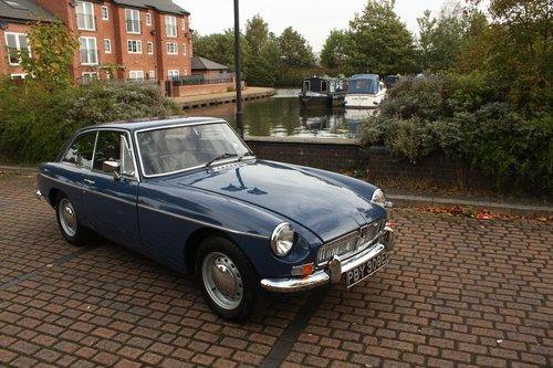 1967 MGB GT Mk1 - Mineral Blue, Restored - MGBGT MG BGT SOLD (picture 2 of 6)