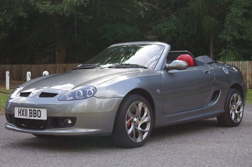 2011 MG TF 135 Enigmatic silver, black/red trim 11K miles, superb SOLD (picture 1 of 6)