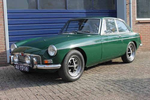MGB GT 1973 - British Racing Green - Overdrive - LHD For Sale (picture 1 of 6)