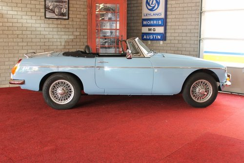 1974 MGB Roadster - Iris Blue - LHD For Sale (picture 3 of 6)
