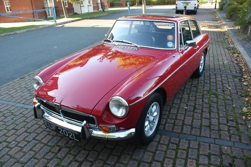 1973 MGB GT - Heritage Body Shell Rebuild - Flame Red SOLD (picture 1 of 6)