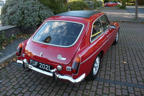 1973 MGB GT - Heritage Body Shell Rebuild - Flame Red SOLD (picture 2 of 6)