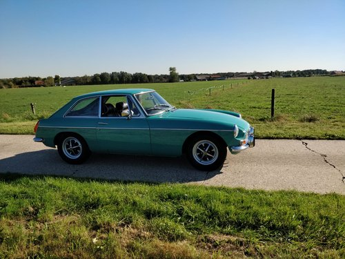 1972 MG B GT Aqua SOLD (picture 1 of 6)