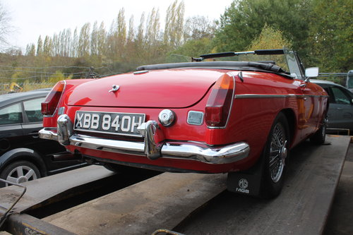 1970 MGB Roadster With O/D , UK , RHD Supplied Example  SOLD (picture 2 of 6)