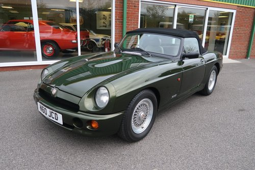 1995 RV8 4.0 V8 2dr Roadster Convertible in Woodcote Green SOLD (picture 1 of 6)