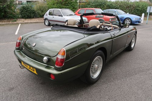 1995 RV8 4.0 V8 2dr Roadster Convertible in Woodcote Green SOLD (picture 4 of 6)