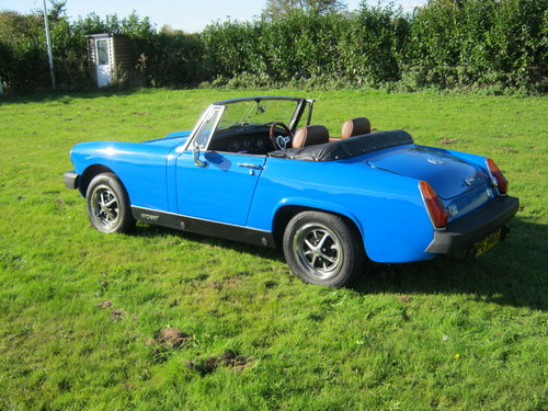 1978 MG MIDGET 1500 IN PAGEANT BLUE. RESTORED AND NEW ENGINE SOLD (picture 3 of 6)