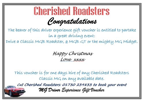 Classic Car Gift Vouchers - Stunning MGs For Sale (picture 5 of 5)