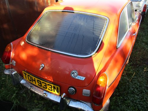 1974 MG B GT - Restoration Project For Sale (picture 2 of 2)