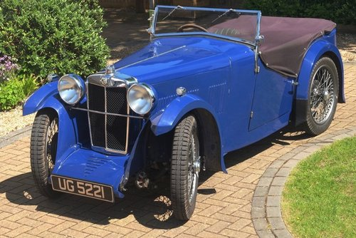 1932 MG J1 4 Seat Tourer - Reserved SOLD (picture 1 of 6)