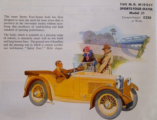 1932 MG J1 4 Seat Tourer - Reserved SOLD (picture 6 of 6)