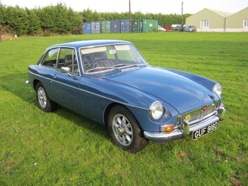1966 MGB GT. MINERAL BLUE. VERY EARLY GT BUILT IN 1965. SOLD (picture 1 of 6)