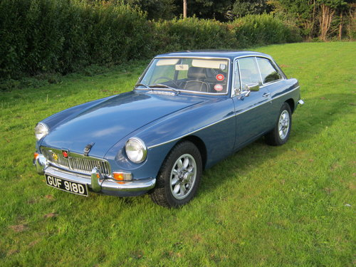 1966 MGB GT. MINERAL BLUE. VERY EARLY GT BUILT IN 1965. SOLD (picture 2 of 6)
