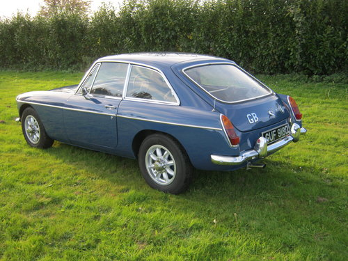 1966 MGB GT. MINERAL BLUE. VERY EARLY GT BUILT IN 1965. SOLD (picture 3 of 6)