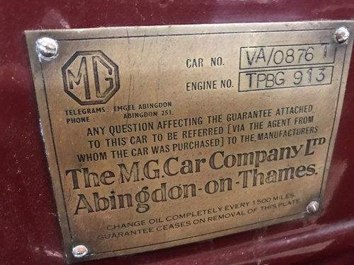 1937 MG VA  1.5 Litre Tourer - Ex-Lancashire Police Car SOLD (picture 6 of 6)