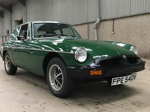 1980 MG B GT at Morris Leslie Auction 23rd February  SOLD by Auction (picture 1 of 6)