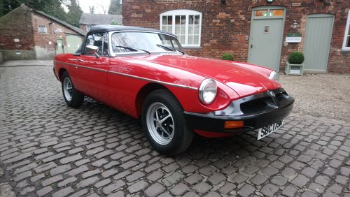 MGB Roadster 1977 Flamenco Red 66,900 miles Complete Rebuild For Sale (picture 1 of 6)