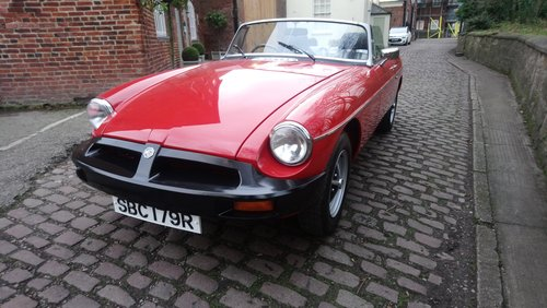 MGB Roadster 1977 Flamenco Red 66,900 miles Complete Rebuild For Sale (picture 3 of 6)