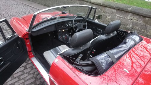 MGB Roadster 1977 Flamenco Red 66,900 miles Complete Rebuild For Sale (picture 4 of 6)