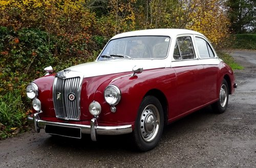 1958 MG MAGNETTE ZB TWO TONE PAINT TWIN CARBS SOLD (picture 1 of 6)