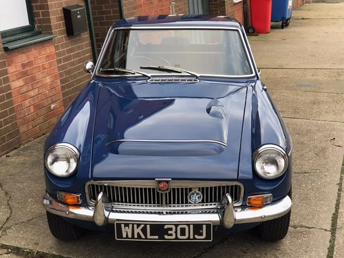 1970 MGC GT, Mineral Blue, overdrive and wires SOLD (picture 1 of 1)