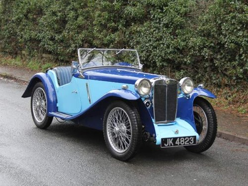 1935 MG PA in Oxford & Cambridge Blue - 8k since 90's rebuild For Sale (picture 1 of 6)