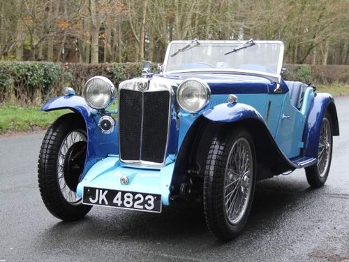 1935 MG PA in Oxford & Cambridge Blue - 8k since 90's rebuild For Sale (picture 2 of 6)