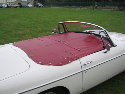 1966 Mgb Roadster Old English White With Red Interior Sold Car And Classic